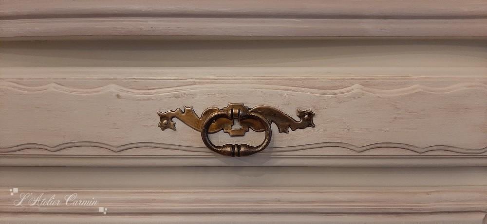 Détail patine tiroir